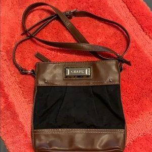 Brown and black Chaps crossbody